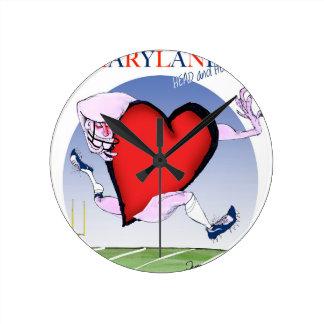 maryland head heart, tony fernandes round clock