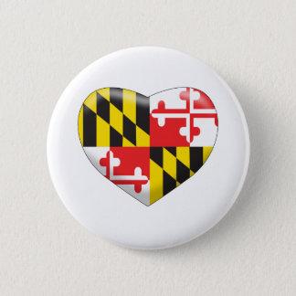 Maryland Heart 2 Inch Round Button