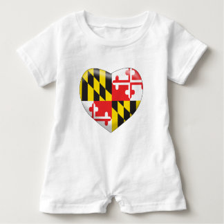 Maryland Heart Baby Romper