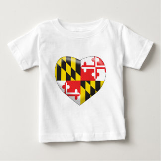 Maryland Heart Baby T-Shirt