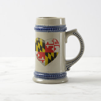 Maryland Heart Beer Stein