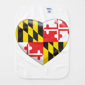 Maryland Heart Burp Cloth