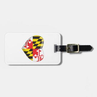 Maryland Heart Luggage Tag