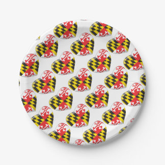 Maryland Heart Paper Plate