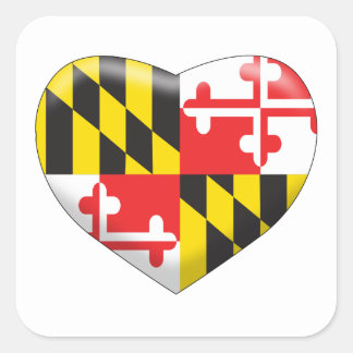 Maryland Heart Square Sticker