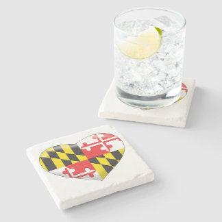 Maryland Heart Stone Coaster