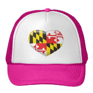 Maryland Heart Trucker Hat