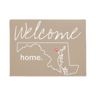 Maryland Home County Door Mat - Baltimore City