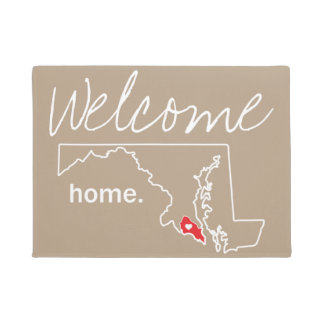 Maryland Home County Door Mat - St. Mary's Co.