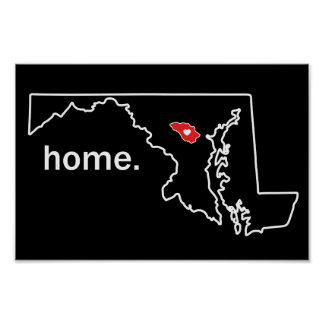 Maryland Home County poster - Howard Co.