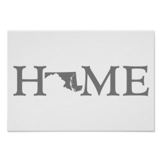 Maryland Home State Word Art Poster