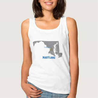 MARYLAND Home Town Personalized Map Tank Top