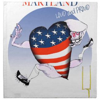 maryland loud and proud, tony fernandes napkin
