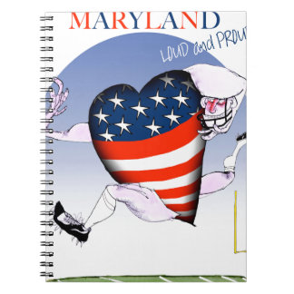 maryland loud and proud, tony fernandes notebooks
