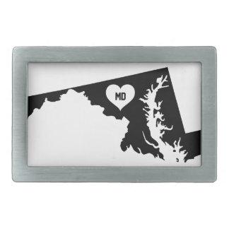 Maryland Love Rectangular Belt Buckle