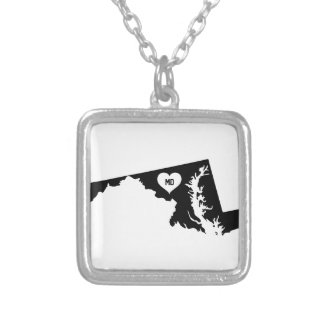 Maryland Love Silver Plated Necklace