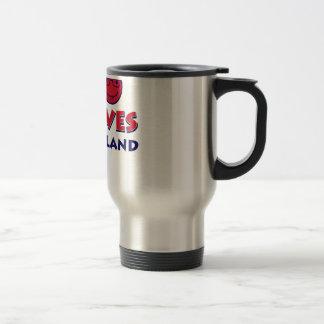 maryland lovers design travel mug