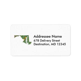 Maryland Map Address Label