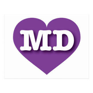 Maryland MD purple heart Post Cards