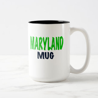 """MARYLAND MUG, funny Maryland gifts. Two-Tone Coffee Mug"
