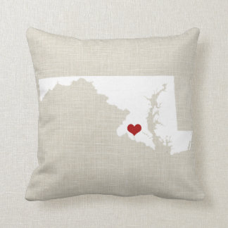 "Maryland New Home State Throw Pillow 16"" x 16"""