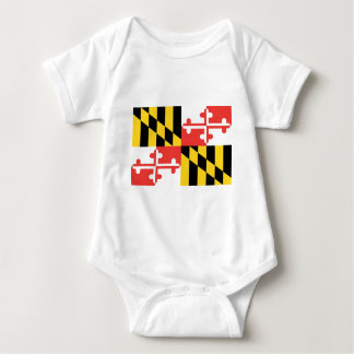 Maryland  Official State Flag Baby Bodysuit