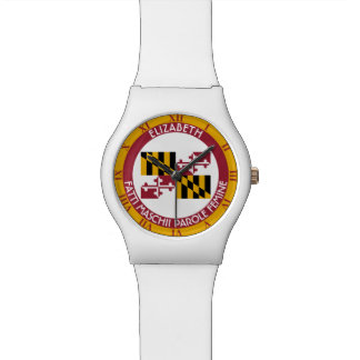 Maryland Old Line State Personalized Flag Watches