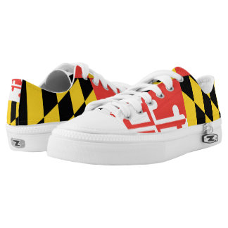 Maryland on my Feet  Zipz Low Top Shoes