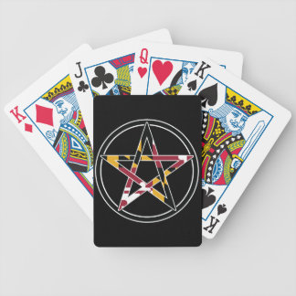 Maryland Pagan transparent Bicycle Playing Cards