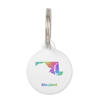 Maryland Pet Name Tag