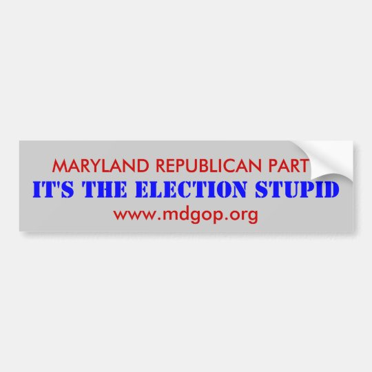 MARYLAND REPUBLICAN PARTY BUMPER STICKER