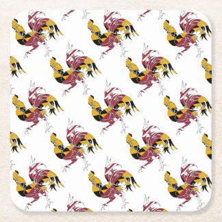 Maryland Rooster Square Paper Coaster