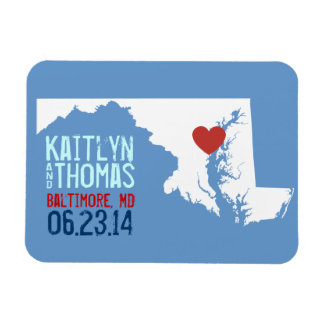 Maryland Save the Date - Customizable City Magnet