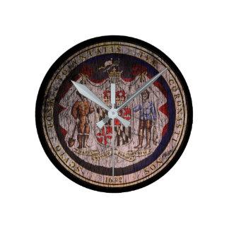Maryland Seal Round Clock