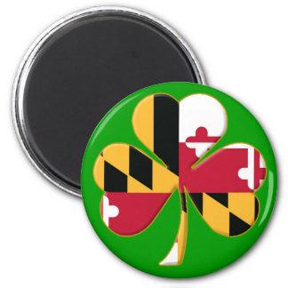 Maryland Shamrock 2 Inch Round Magnet