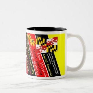 Maryland State Facts Two-Tone Coffee Mug