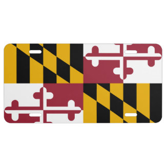 Maryland State Flag 1 License Plate
