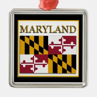 Maryland State Flag Christmas Ornament