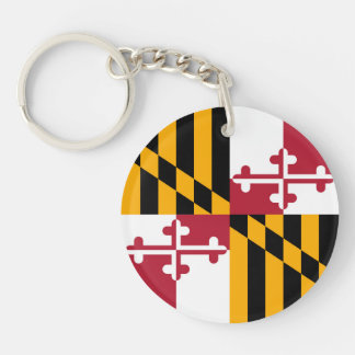 Maryland State Flag Colors Graphic Keychain