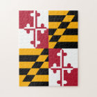 Maryland State Flag Colours Decor Jigsaw Puzzle