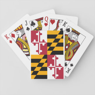 Maryland State Flag Design Poker Deck