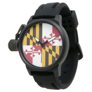 Maryland State Flag Dial Design Watches