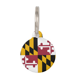 Maryland State Flag Pet ID Tag