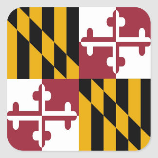 Maryland State Flag Square Sticker
