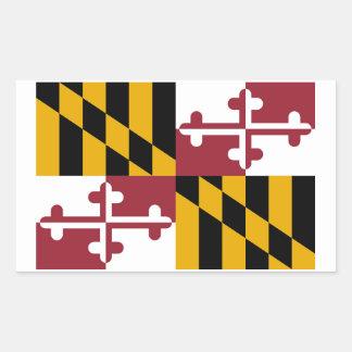 Maryland State Flag Sticker - 4 per sheet