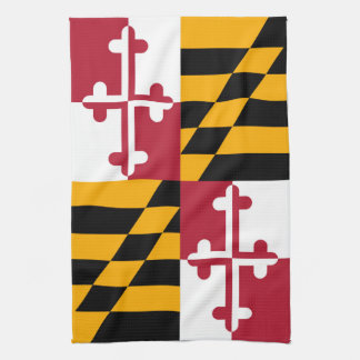 Maryland State Flag Style Decor Kitchen Towel