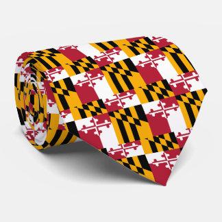 Maryland State Flag Stylish Decor Tie