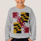 Maryland State Flag Stylish Sweatshirt