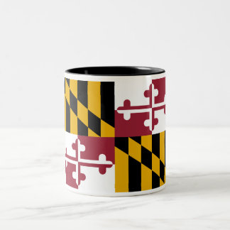 Maryland State Flag Two-Tone Coffee Mug