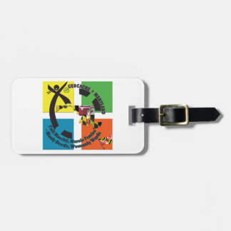 MARYLAND STATE MOTTO GEOCACHER LUGGAGE TAG